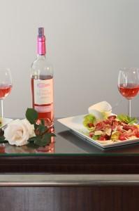 Salade César et Château Ninon Bordeaux Rosé