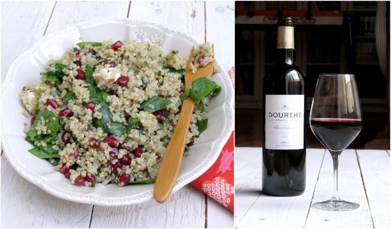Salade quinoa et grenade