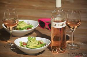 Guacamole et Bordeaux Rosé