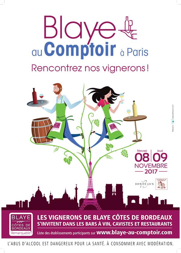 BLAYE AU COMPTOIR À PARIS